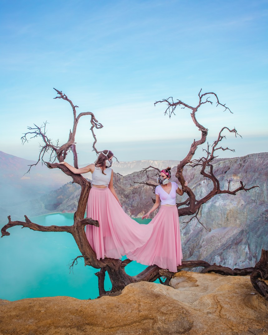 Mount Ijen tree viewpoint