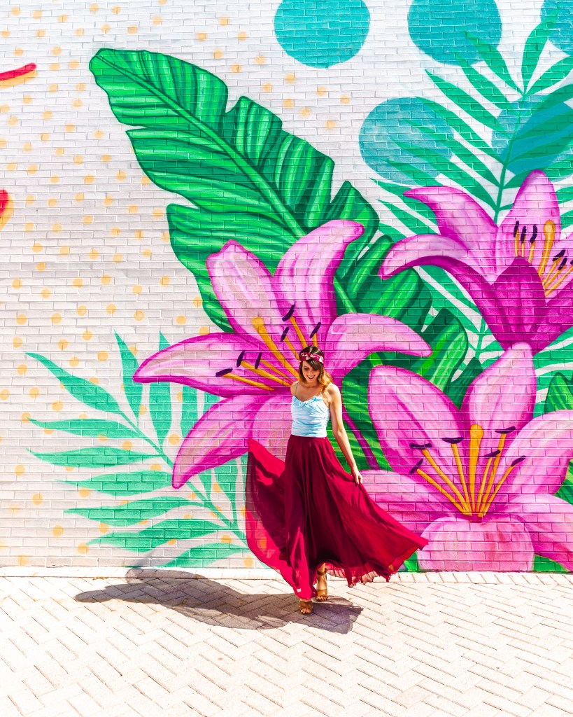 Lily Flower Mural