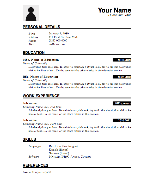 Simple resume format for freshers pdf – Basic Resume Template