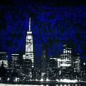 Blue lights black city_Fotor