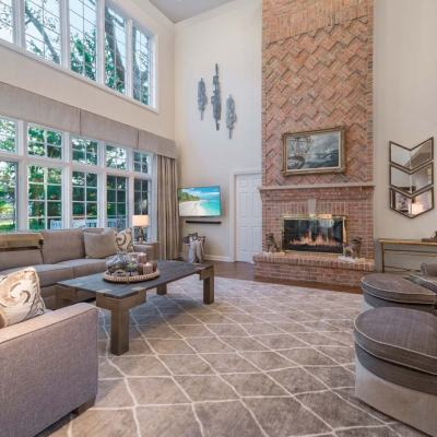 1995 Remodel Family Room by Talie Jane Interiors