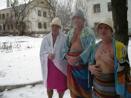 mehed saunas
