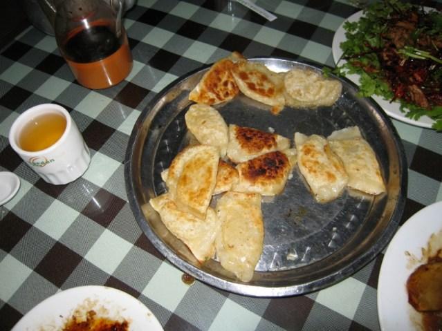 Veg dumplings Jules helped make...
