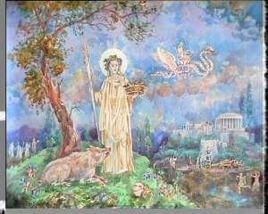 Deméter con jabalí mágico sagrado