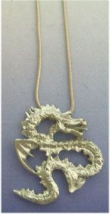 dragon pendant corean silver