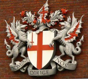 heraldic dragons London symbol
