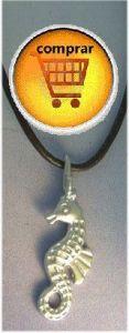 sea horse pendant silver