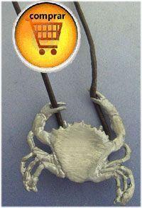 crab amuleto pendant silver