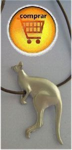 kangaroo pendant silver
