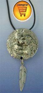 beaver silver pendant