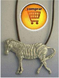 zebra silver pendant