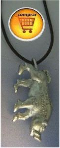 pig budist silver pendant