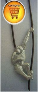 chimpance amulet silver pendant