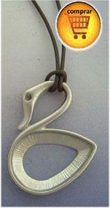 swan silver pendant