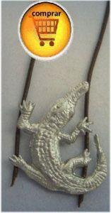 aligator totem silver pendant