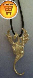 dragon silver pendant henham