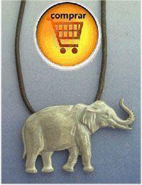 elephant silver pendant amulet