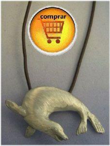seal silver pendant