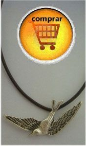 swallow silver pendant