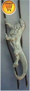 iguana silver pendant