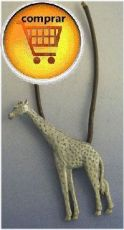 giraffe silver pendant