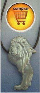 lion silver pendant
