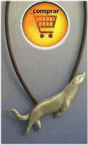 otter silver pendant amulet
