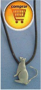 mouse rat silver pendant