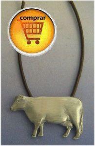 cow silver pendant