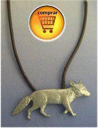 fox silver pendant
