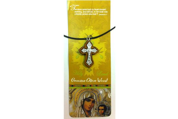 Крест из оливкового дерева со Святой Земли