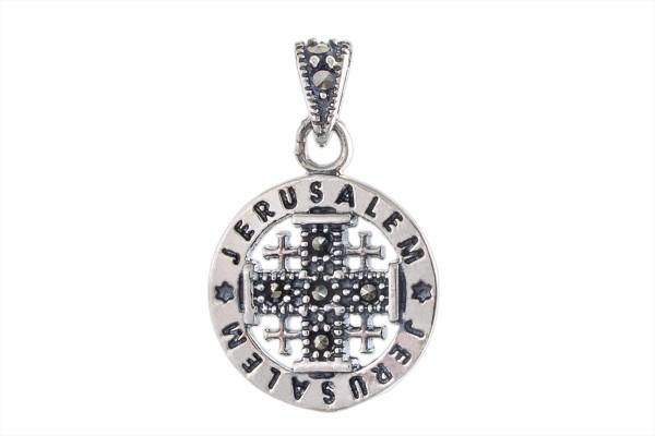 Серебряный кулон Иерусалимский Крест