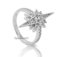Серебряное кольцо Рождественская Звезда