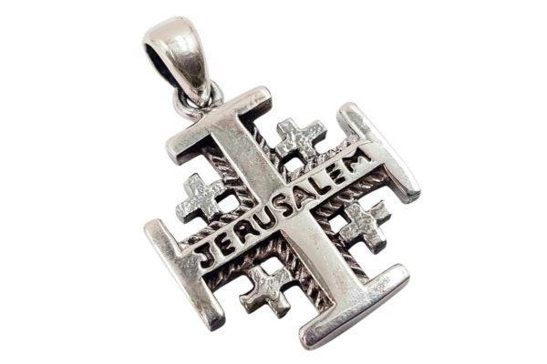 Серебряный Кулон Иерусалимский Крест с Сертификатом