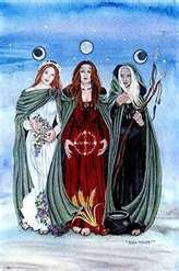 triple luna y triple diosa celta