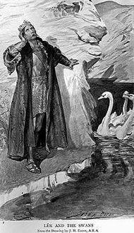 Lir con sus 4 hijos los cisnes encantados