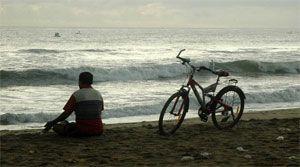 mantra en la playa