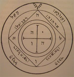 fifth pentacle talisman of Saturn Salomon seal