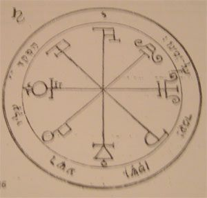 sixth pentacle of saturn talisman Salomon seal