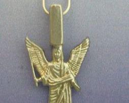 colgante ángel Jeliel de plata de ley con cadena de plata