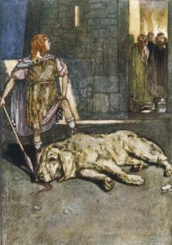 Cuchulainn y el perro