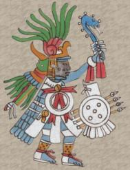 Huitzilopochtli dios azteca guerreros