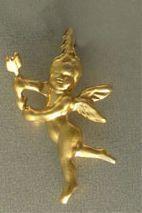 colgante ángel de luz serafín oro