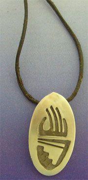 colgante garra oso huella del tótem oso amuleto colgante plata