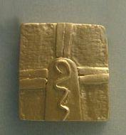 colgante sello maya kin guerrero oro
