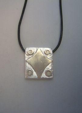 colgante kin sello maya signo estrella kin lamat plata