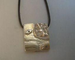 colgante sello kin maya serpiente chikchan de plata
