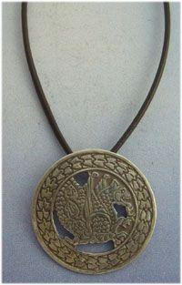 colgante simurgh amuleto símbolo persa colgante plata