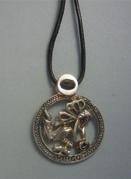 colgante horóscopo virgo signo zodiaco plata