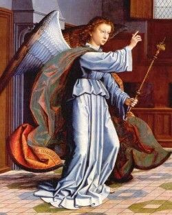 bastón flor de lis del ángel Gabriel